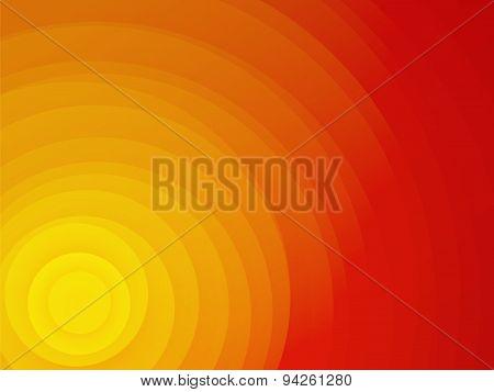 Beautiful Red Sunset Yellow Circle Background