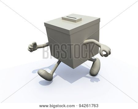 Ballot Box That Runs Away