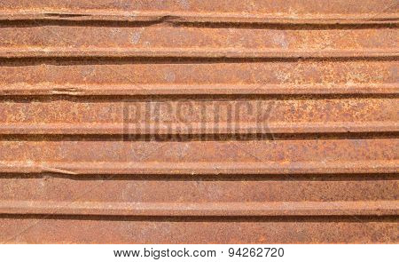 Old Rusty Zinc Grunge Background And Texture