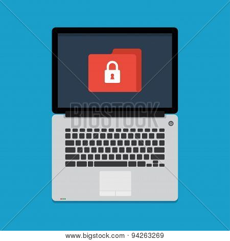 internet security concept in flat style