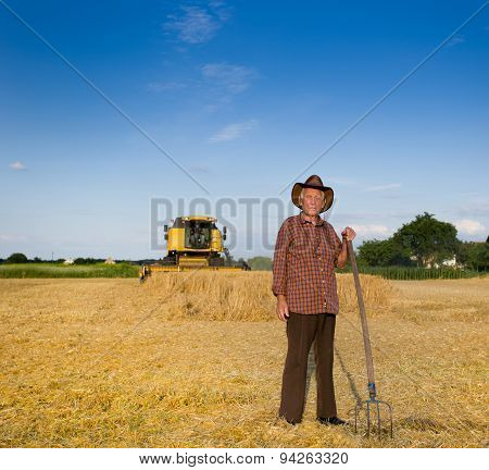 Old Farmer At Harvest