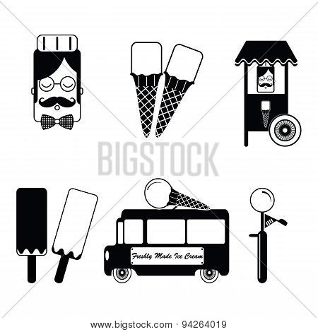 Vintage ice-cream items