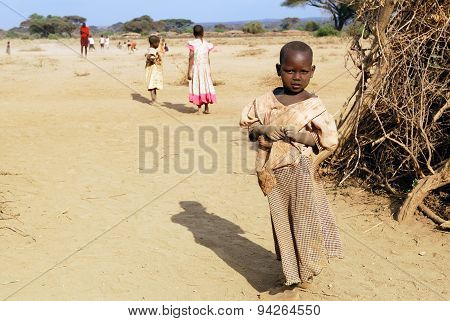 Children From Masai Tribe