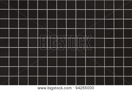 Modern style design of black mosaic tile