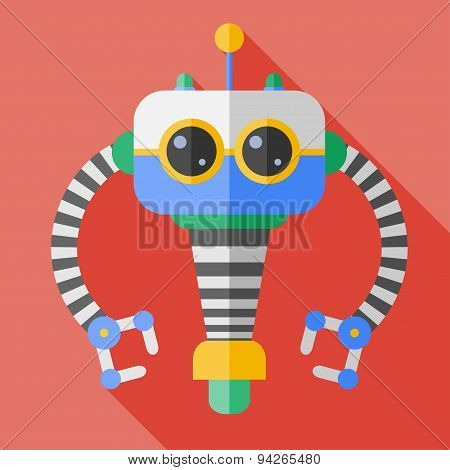 Vector flat color robot toy