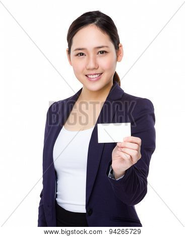 Asian businesswoman show with namecard