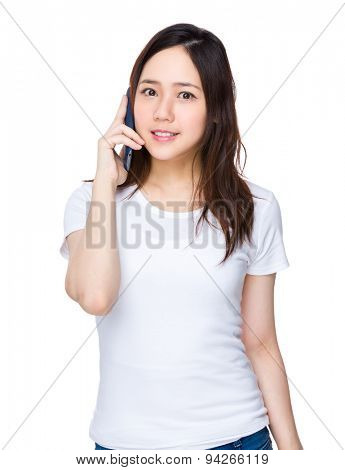 Young girl talk to cellphone