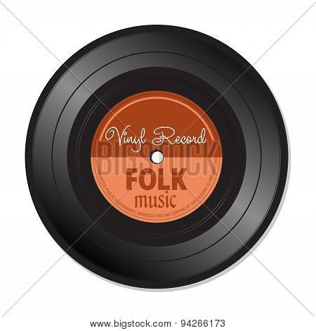 Folk music vinyl record