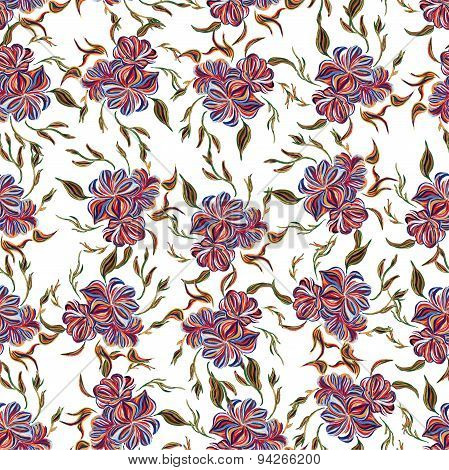 Abstract elegance seamless pattern with floral background.