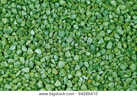 Green Pebbles, Detail, Horizontal