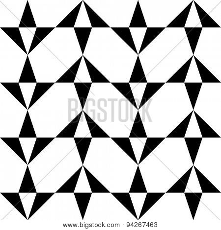 Seamless Triangle Pattern. Abstract Monochrome Background. Vector Regular Texture