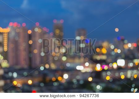Blur cityscape skyline abstract background