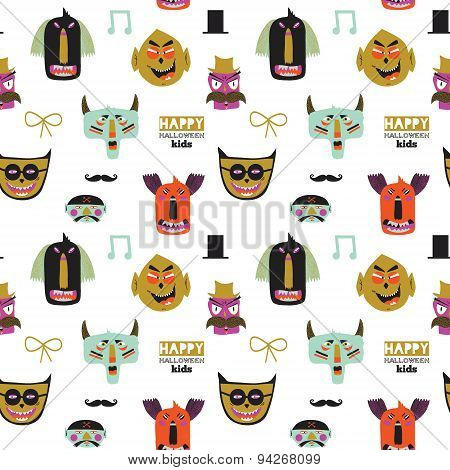 Trick or treat seamless pattern