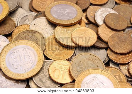 Coins Russian Rubles Of Different Denomination