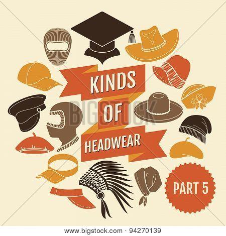 Kinds of headwear. Part 5.