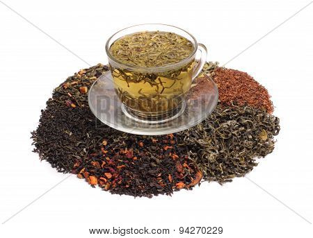 Green Teas And Assorted Tea Leaf