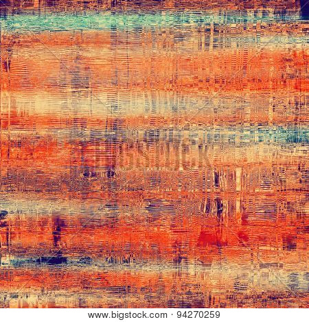 Abstract blank grunge background, old texture with stains and different color patterns: brown; green; purple (violet); red (orange)