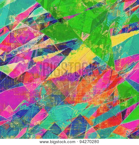 Abstract textured background designed in grunge style. With different color patterns: yellow (beige); blue; green; pink; red (orange)