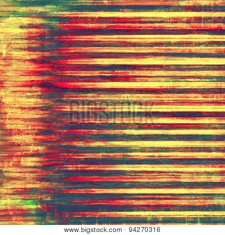 Vintage antique textured background. With different color patterns: yellow (beige); brown; green; red (orange)