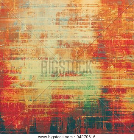 Abstract old background or faded grunge texture. With different color patterns: yellow (beige); brown; green; red (orange)