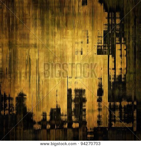 Art vintage background with space for text and different color patterns: yellow (beige); brown; gray; black