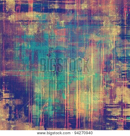 Art vintage background with space for text and different color patterns: brown; blue; purple (violet); pink