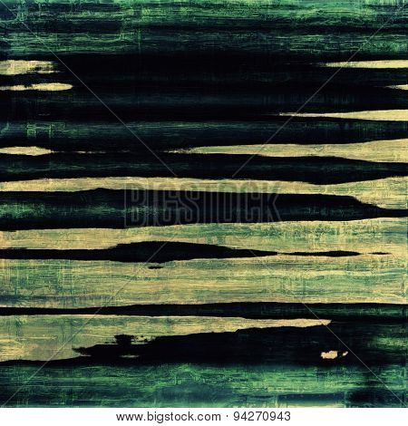 Old grunge background with delicate abstract texture and different color patterns: yellow (beige); blue; green; black