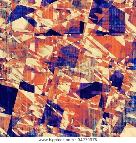 Designed background in grunge style. With different color patterns: yellow (beige); blue; purple (violet); red (orange)