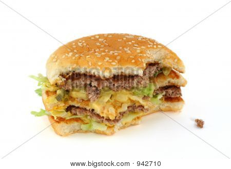 Half-Eaten Delicious Hamburger