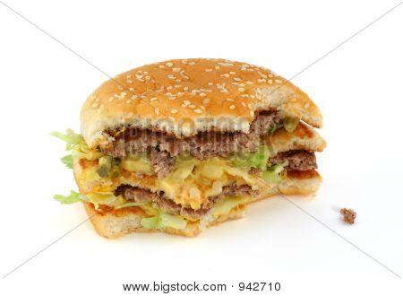 Half-Eaten Delicious Hamburger