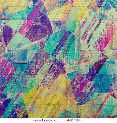 Grunge colorful background or old texture for creative design work. With different color patterns: yellow (beige); blue; purple (violet); pink