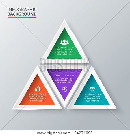 Vector triangle for infographic.