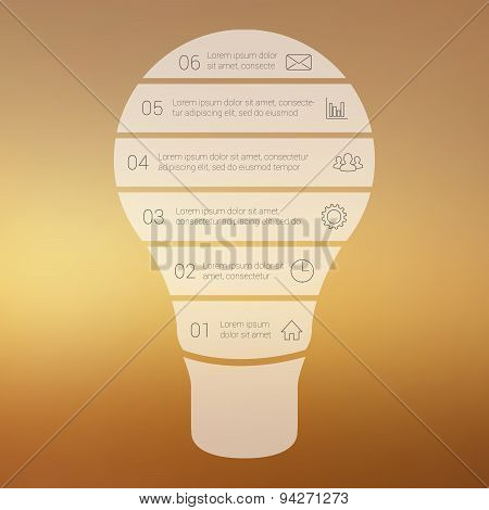 Light bulb line infographic.