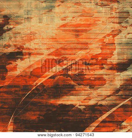Designed background in grunge style. With different color patterns: yellow (beige); brown; black; red (orange)