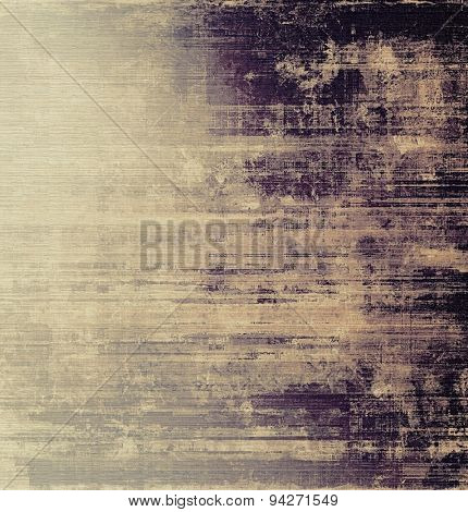 Abstract grunge background with retro design elements and different color patterns: brown; gray; purple (violet); black