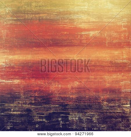 Abstract textured background designed in grunge style. With different color patterns: yellow (beige); brown; purple (violet); red (orange)
