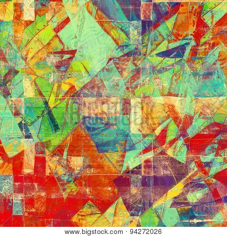 Grunge old-fashioned background with space for text or image. With different color patterns: brown; blue; green; purple (violet); red (orange)