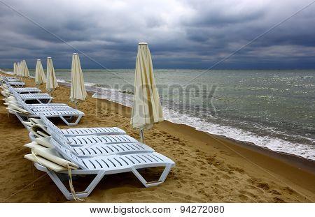 Storm over Black Sea resort
