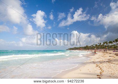 Coastal Caribbean Landscape. Atlantic Ocean