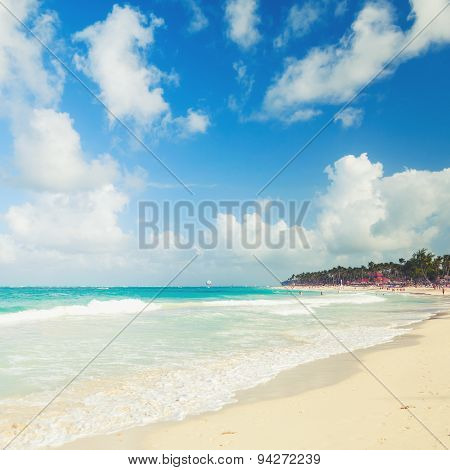 Beach On The Atlantic Ocean, Dominican Republic