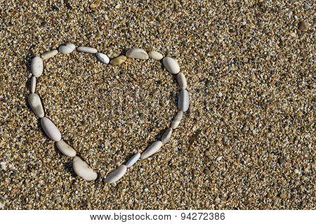 Hearth Shape Of Beach Rocks