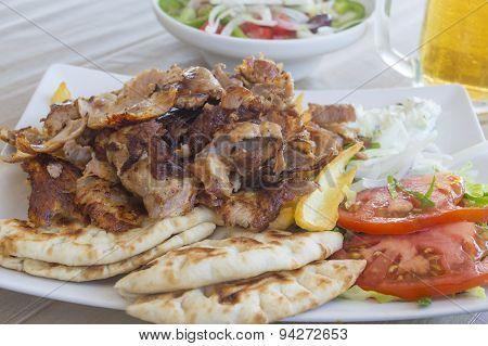 Chicken Gyros In A Plate Offset