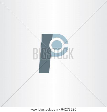 Letter P Character Symbol Design