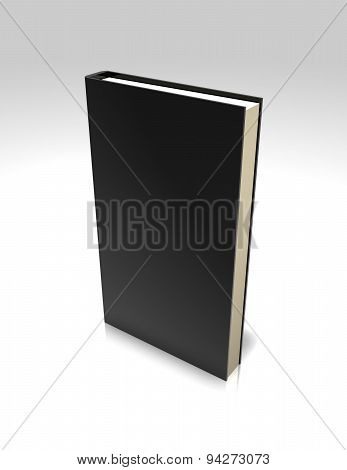 Blank Black Standing Book Template Illustration