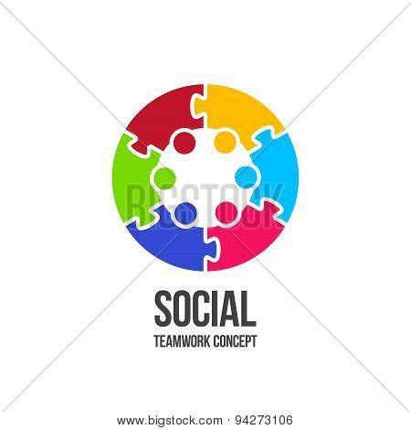 Social Teamwork concept