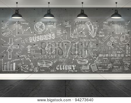 3D Drawing Business Concept