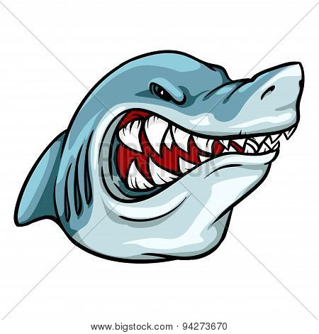 Shark mascot, team label design.