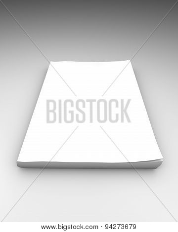 Blank Magazine Notebook Illustration Isolated
