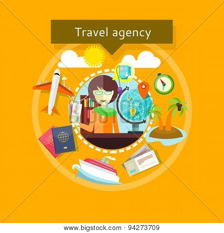 Travel Agent with Tickets in Hands Types of travel