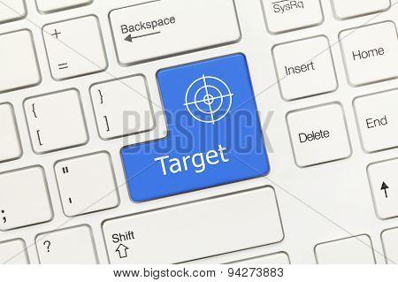 White Conceptual Keyboard - Target (blue Key)